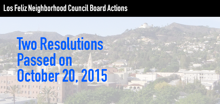 Board Resolutions on Renters' Surcharges and Homelessness in Los Feliz