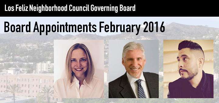 Board Appointment Results, 2/16/16