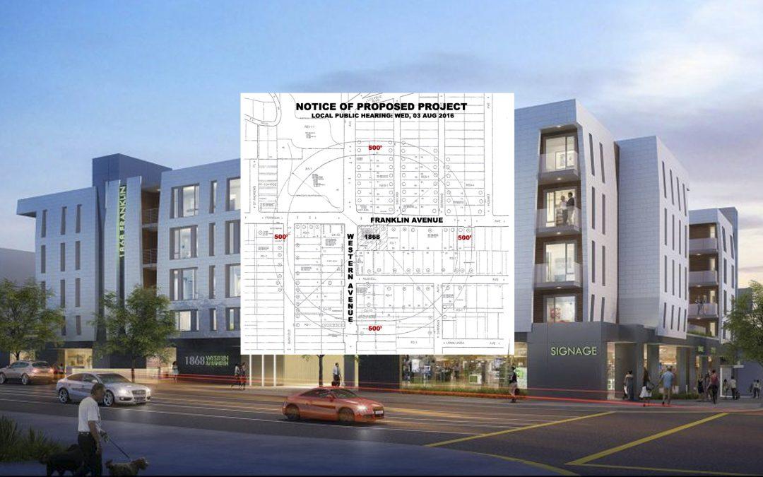 Franklin & Western Development Project – Local Hearing